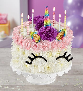 Birthday Wishes Flower Cake® Unicorn