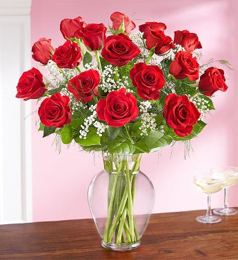 Only For You Long Stem Red Roses