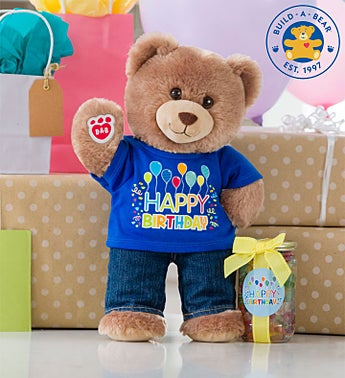Build-A-Bear® Loveable Birthday Cub - Boy or Girl