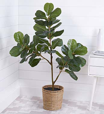Faux Fiddle Leaf Fig Tree 47""