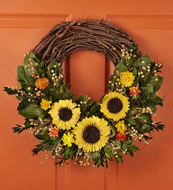Preserved Sunflower Luna Wreath-18""