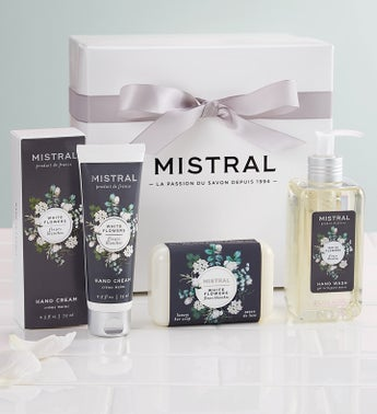Mistral White Flower Gift Set