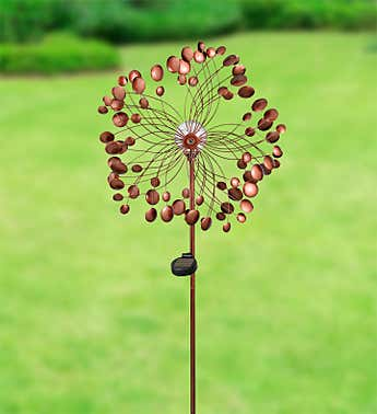 Copper Garden Solar Spinner