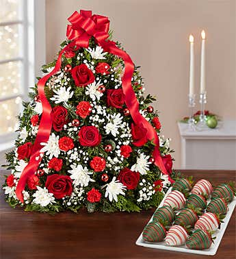 Holiday Flower Tree®  with Strawberries