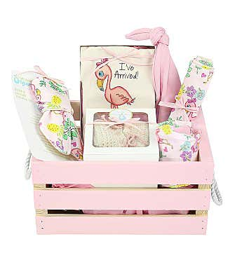 Personalized Organics Gift Crate in Pink