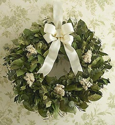 Preserved Dried Eucalyptus and Myrtle Wreath- 16