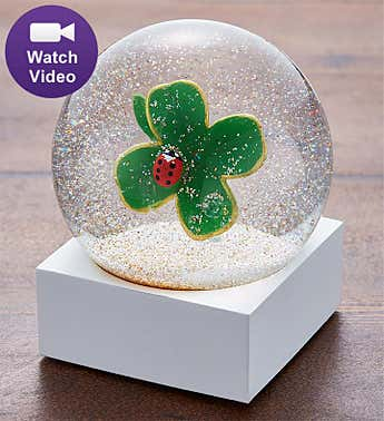 Four Leaf Clover Snow Globe by CoolSnowGlobes