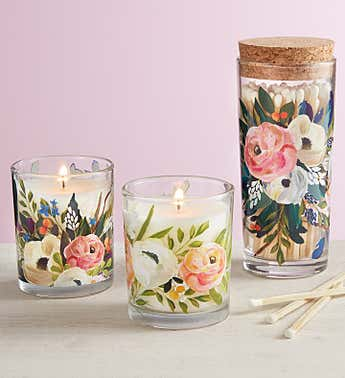 Bella Flora Candle Gift Set