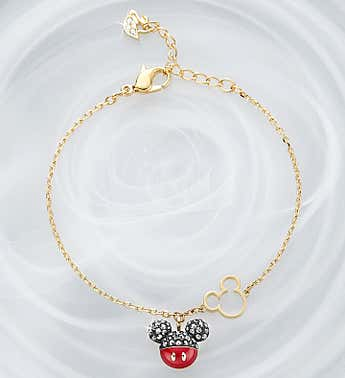 Swarovski ® Mickey and Minnie Bracelet
