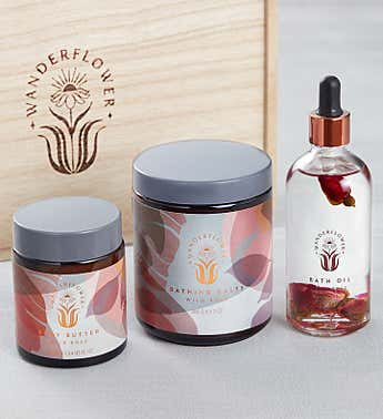 Time to Unwind Wild Rose Bath Gift Set