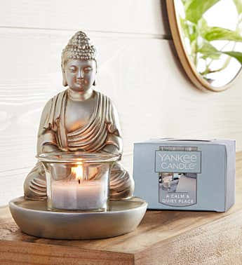 Buddha Tea Light Holder with Yankee Candle®