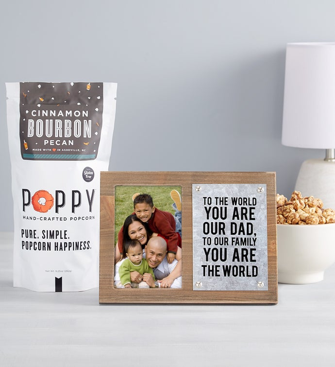 Father's Day Picture Frame with Bourbon Popcorn