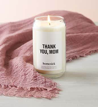 Thank You Mom Candle by Homesick With Scarf