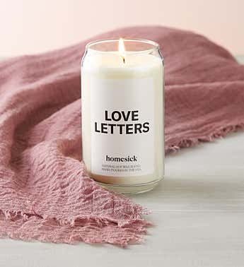 Love Letters Candle by Homesick With Scarf