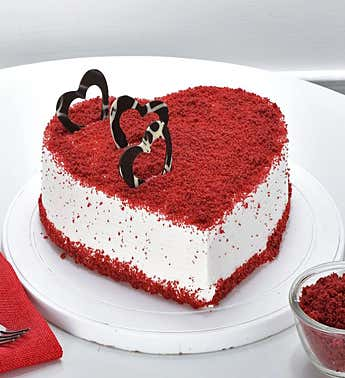 Red Velvet Heart Cake1kg Eggless