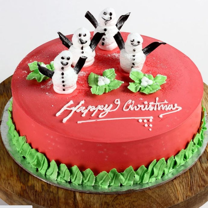 Decorated Snowman Chocolate Cake