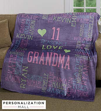 Personalized Reasons Why for Her Plush Blanket