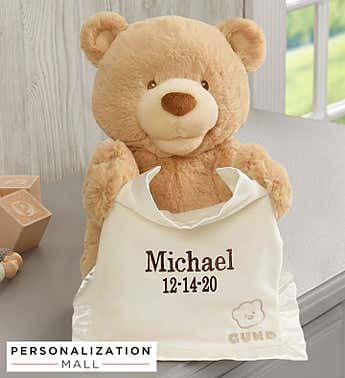 Personalized Peek-A-Boo Gund® Bear