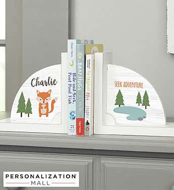 Personalized Woodland Adventure Bookends