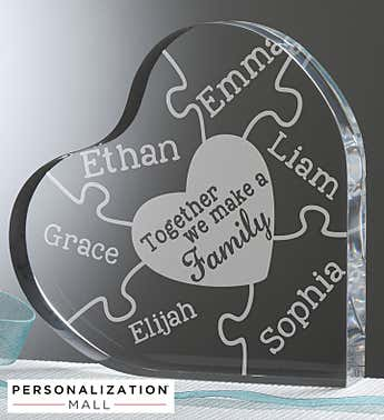 Personalized We Make A Family Heart Puzzle