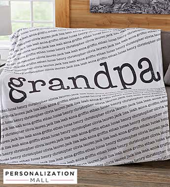Personalized Our Special Guy Sweatshirt Blanket
