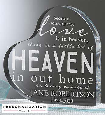 Heaven In Our Home Personalized Memorial Keepsake