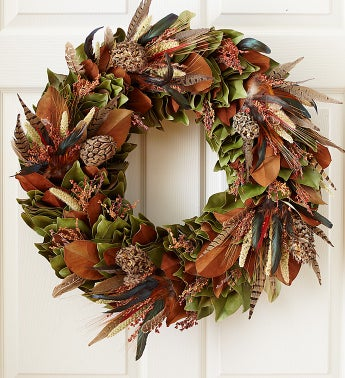 Fall Pheasant Wreath-24""