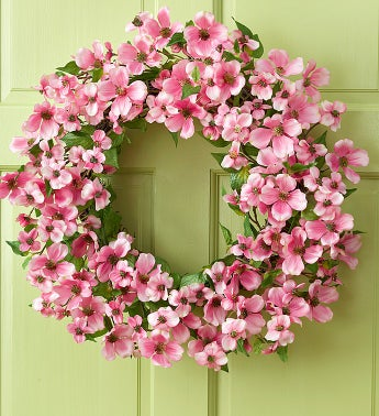 Silk Dogwood Wreath - 24""