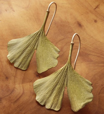Gingko Wire Earrings