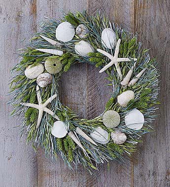 Preserved Seaside Wreath 16""