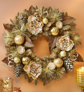 Vintage Holiday Faux Wreath - 24""