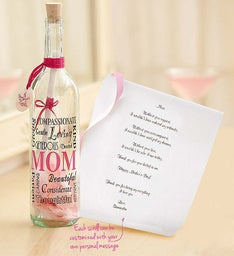 Personalized Message in a Bottle for Mom