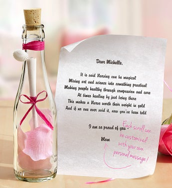 Personalized Message in a Bottle® Nurse