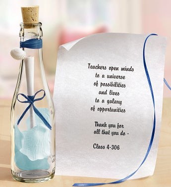 Personalized Message in a Bottle® Teacher