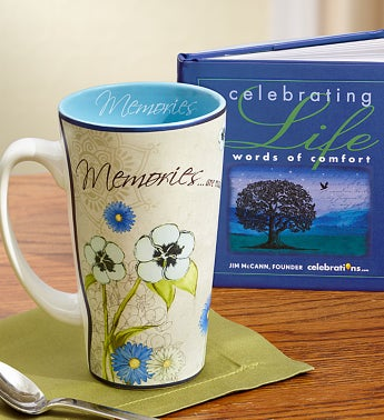 Memories Mug with Celebrating Life Book
