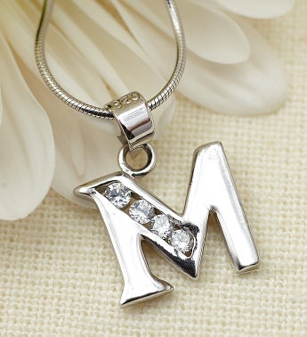 Child's Personalized Initial Pendant-14""