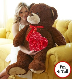 Valentine's Day Henry Giant Bear with Chocolate for