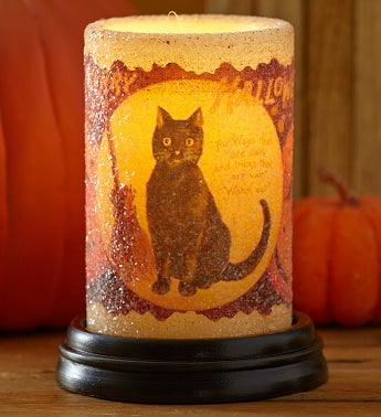 Vintage Black Cat Electric Candle