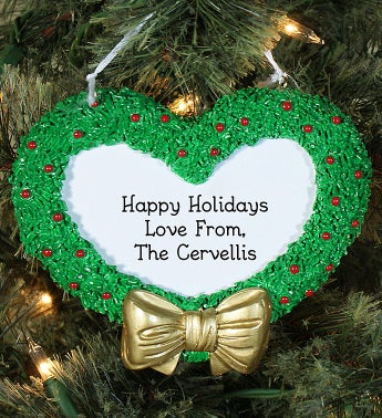Personalized Holiday Wreath Ornament