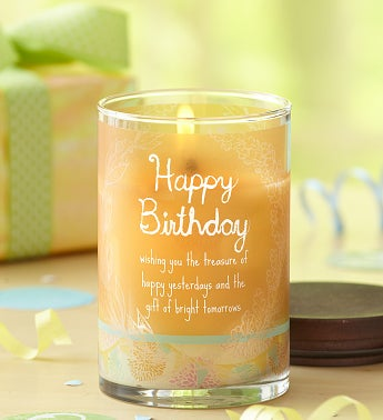 Happy Birthday Inspirational Candle