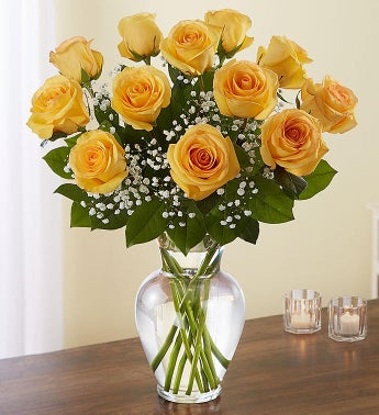 Rose Elegance Premium Long Stem Yellow Roses