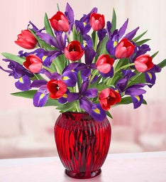 Hugs & Kisses Tulip & Iris Bouquet