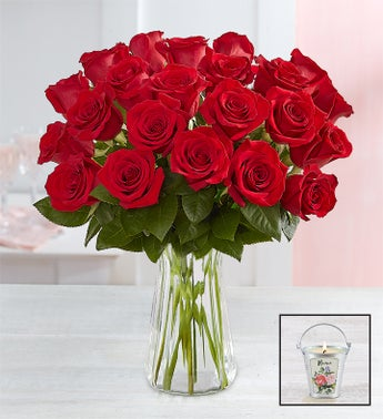 Two Dozen Red Roses for Mothers Day