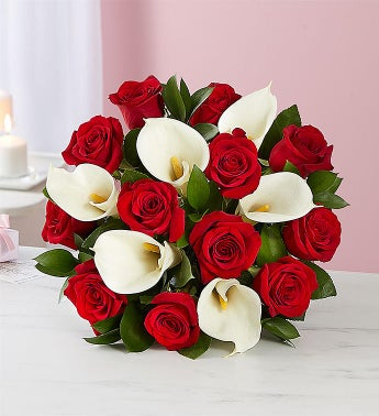 Red Rose  Calla Lily Bouquet