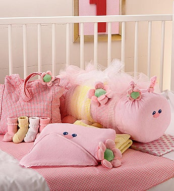 Baby Caterpillar Blanket & Bag Set- Pink or Blue