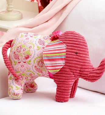 Fuschia Elephant Pillow