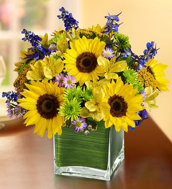 Fields of Europe™ for Summer in Cube Vase