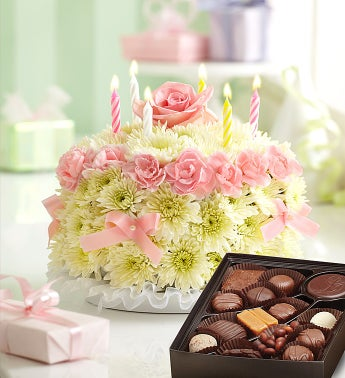 Birthday Flower Cake® with Free Chocolate