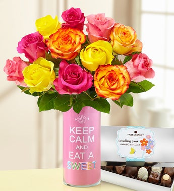 Keep Calm and Eat a Sweet Bouquet + Chocolate