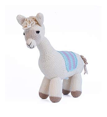 Llama With Saddle Blanket
